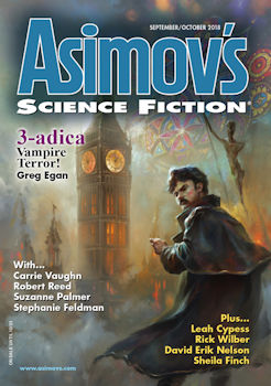 Cover of Asimov's SF Magazine, September/October 2018